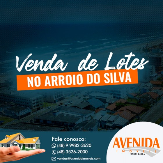 Banner Venda de lotes no Arroio do Silva